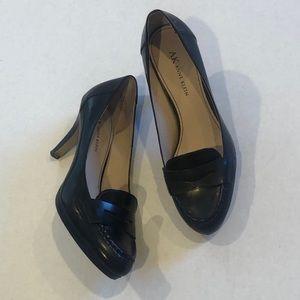 ANNE KLEIN penny loafer career heels